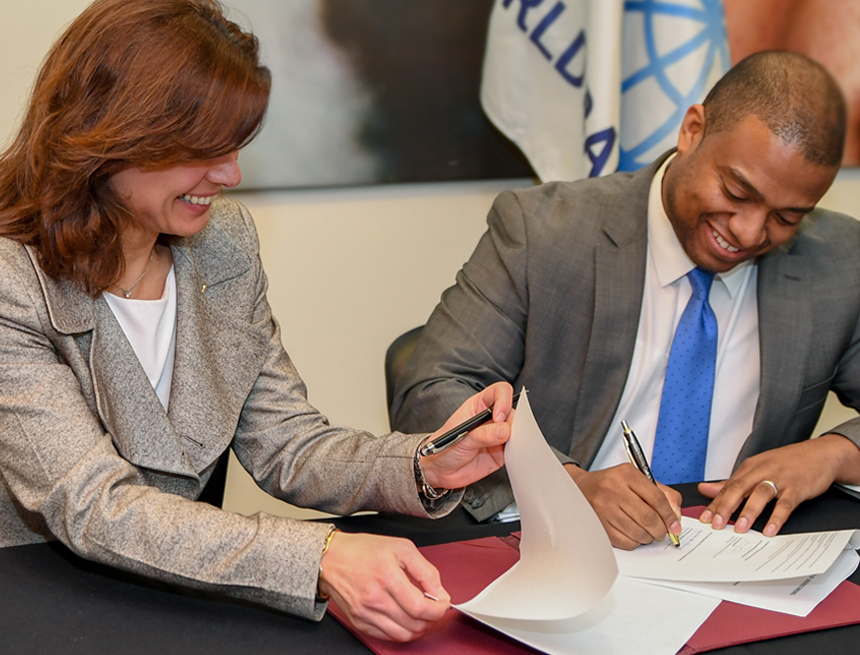 James-Christian Blockwood signs CAE agreement with World Bank